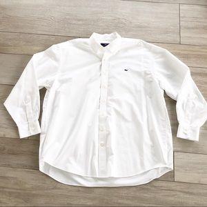 """Vineyard Vines White """"Whale Shirt"""" Button Down"""